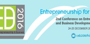 Call For Papers- 2nd Conference on Entrepreneurship & Business Development (CEB2016)