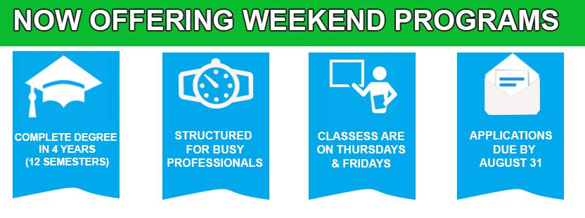 Offering Weekend Programs