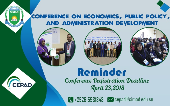 Registration Guidelines for CEPAD Conference 2018