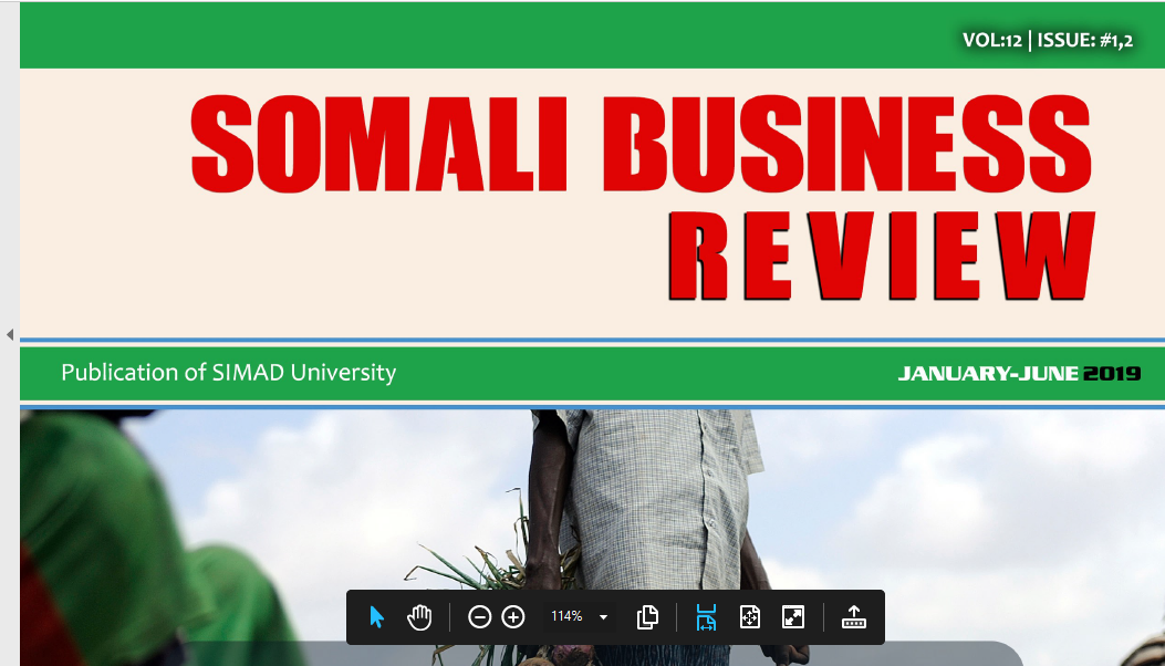 Somali Business Review (SBR) Volume 12 Is released