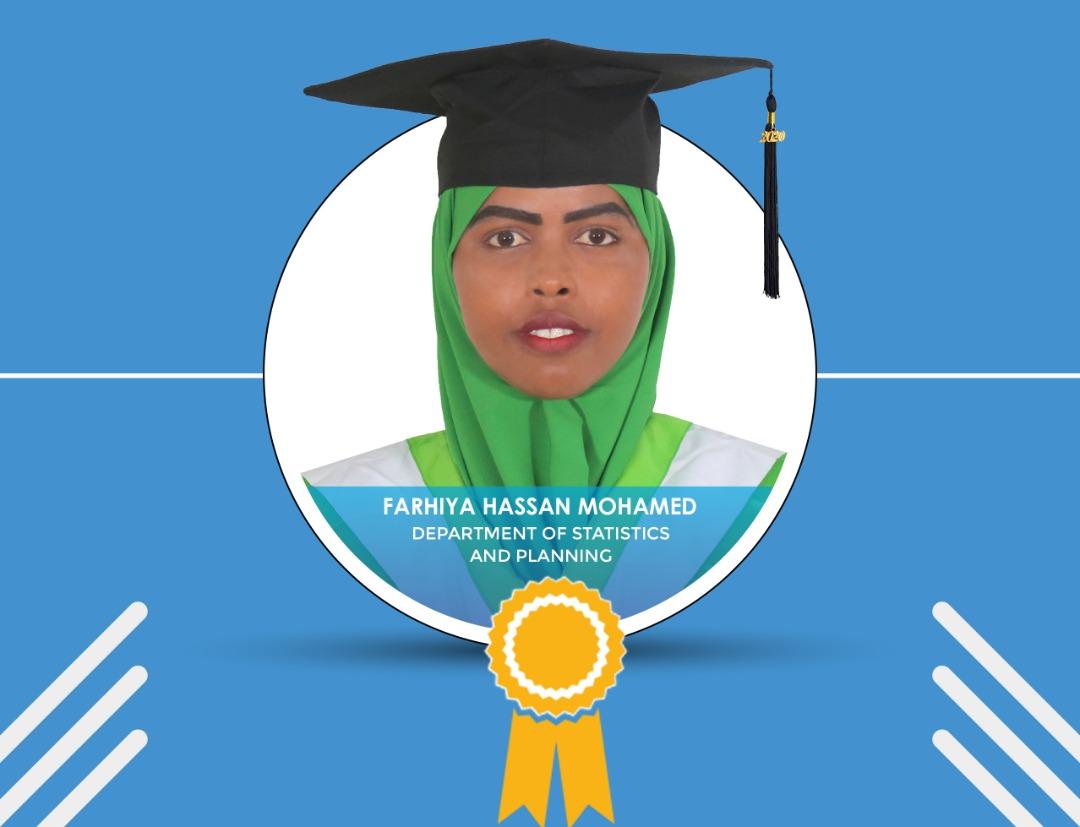 Farhia scores the highest GPA ever in SIMAD's history.